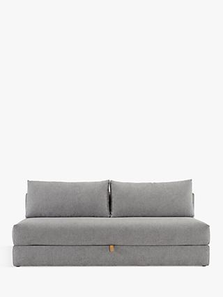 Innovation Living Osvald Sofa Bed with Pocket Sprung Mattress, Dark Leg, Melange Light Grey