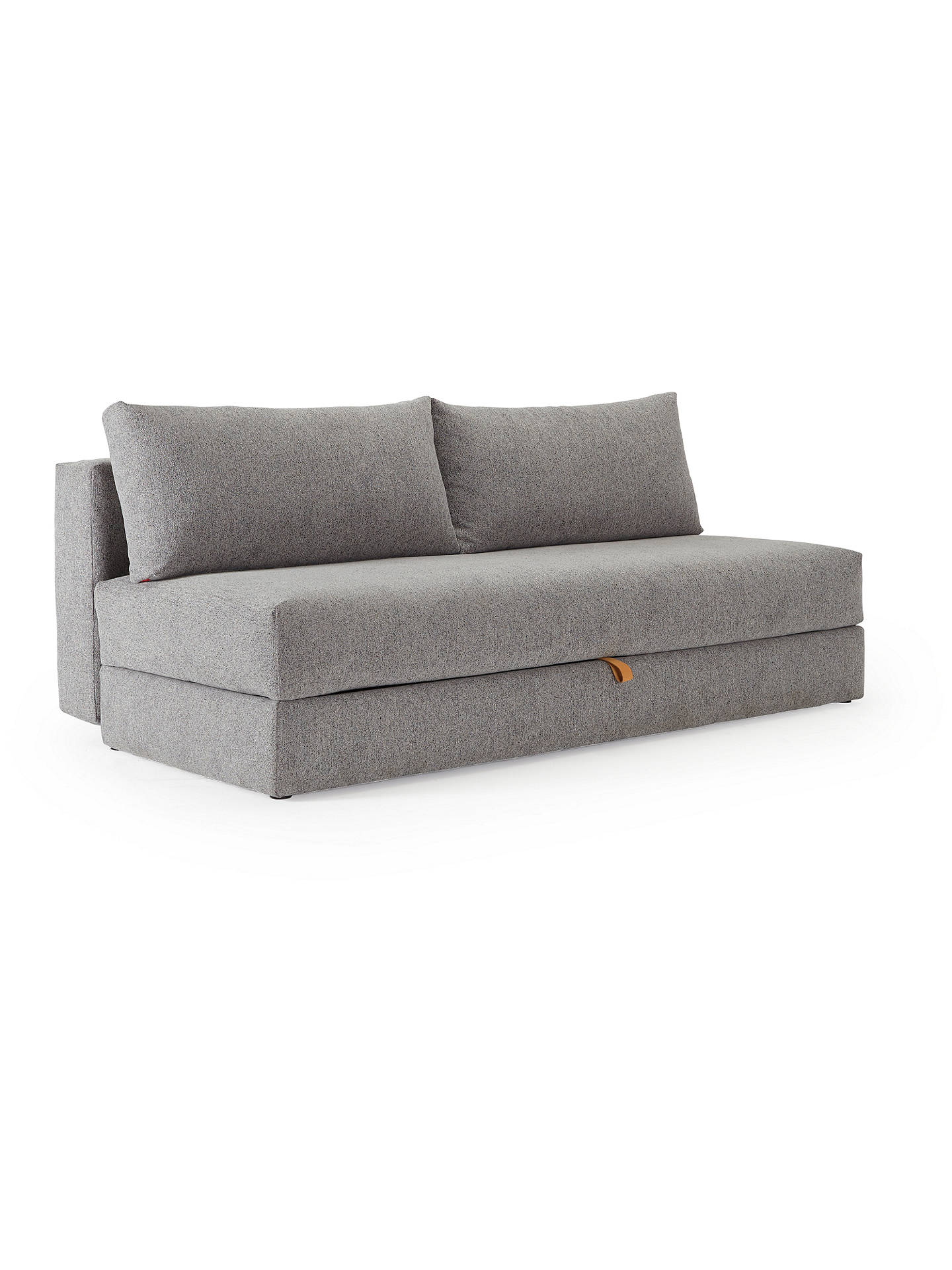 Innovation Living Osvald Sofa Bed With Pocket Sprung Mattress Dark Leg Melange Light Grey
