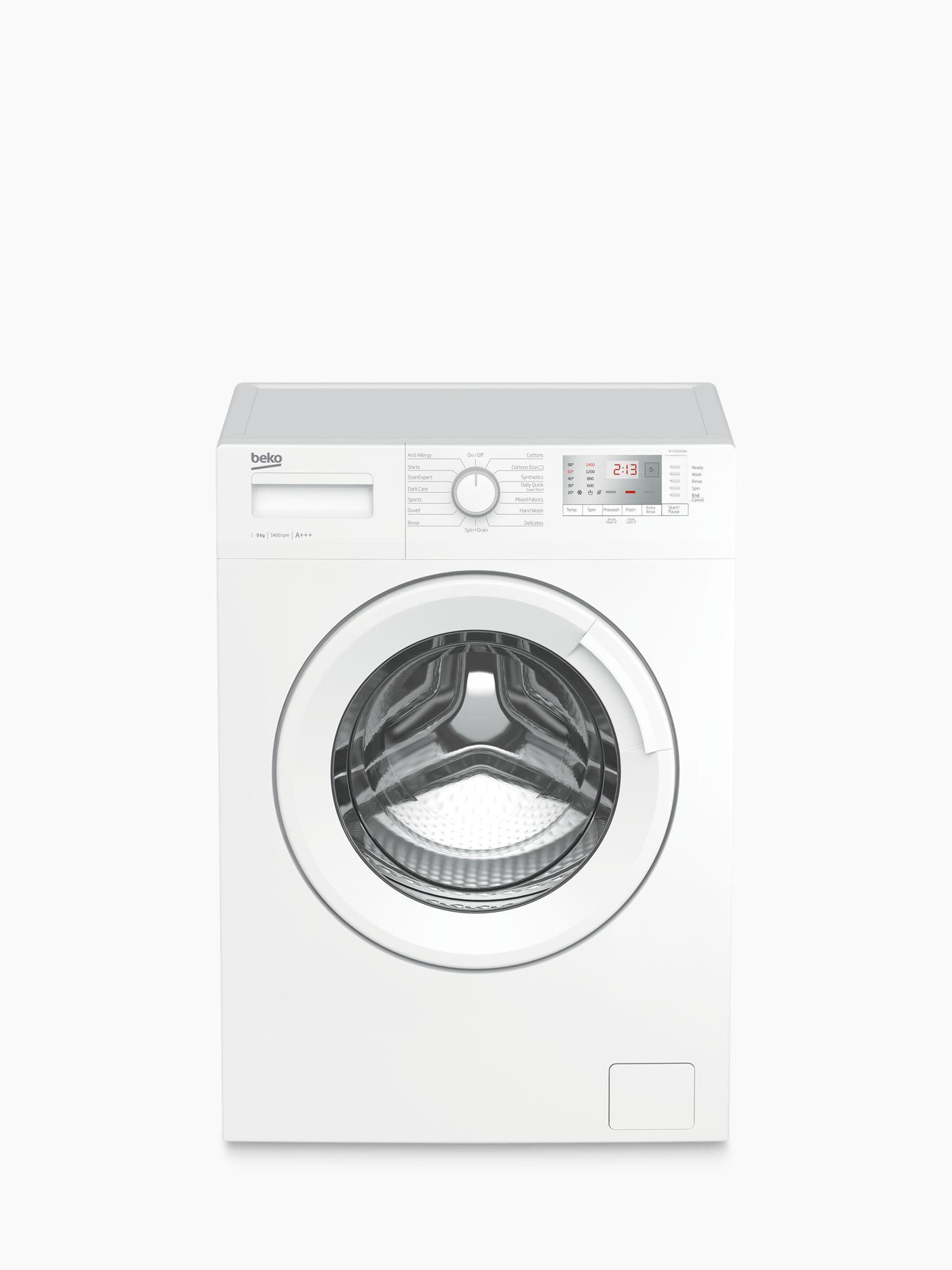 Beko Beko WTG941B2JW Freestanding Washing Machine, 9kg Load, A+++ Energy Rating, 1400rpm Spin, White