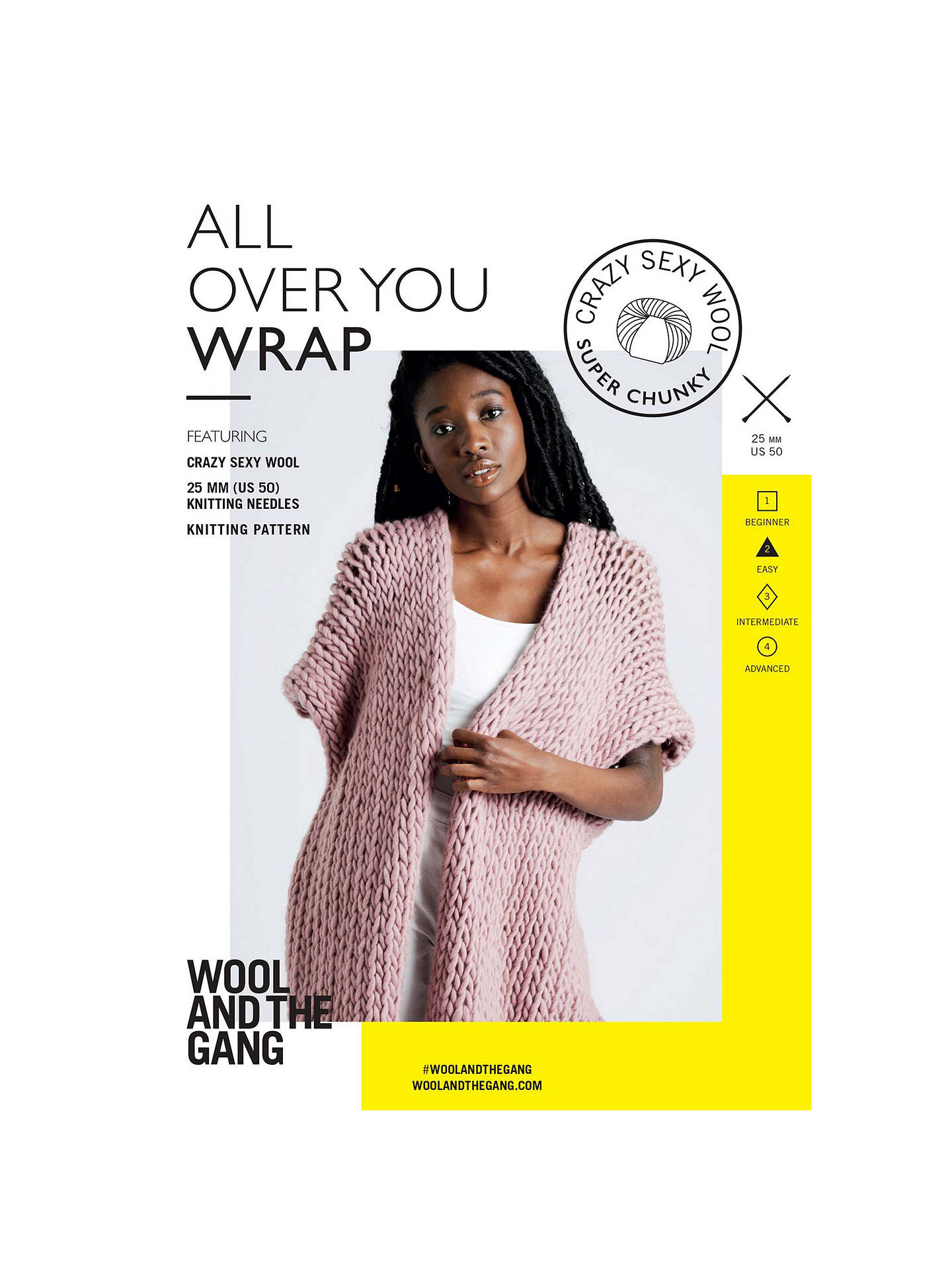 c6b07eebdb00 Wool And The Gang Women s All Over You Wrap Knitting Pattern at John ...
