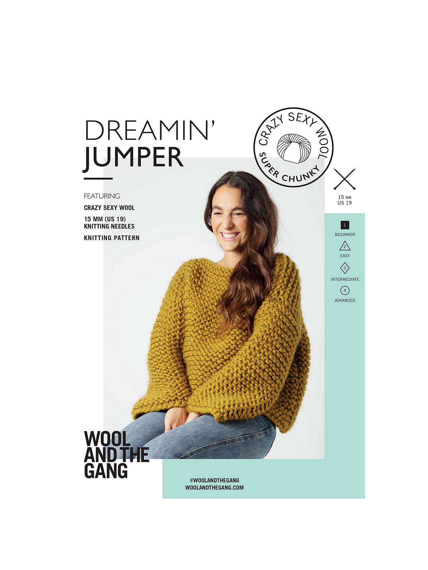 c9f59acacaca4e Buy Wool And The Gang Women s Dreamin  Jumper Knitting Pattern Online at  johnlewis. ...