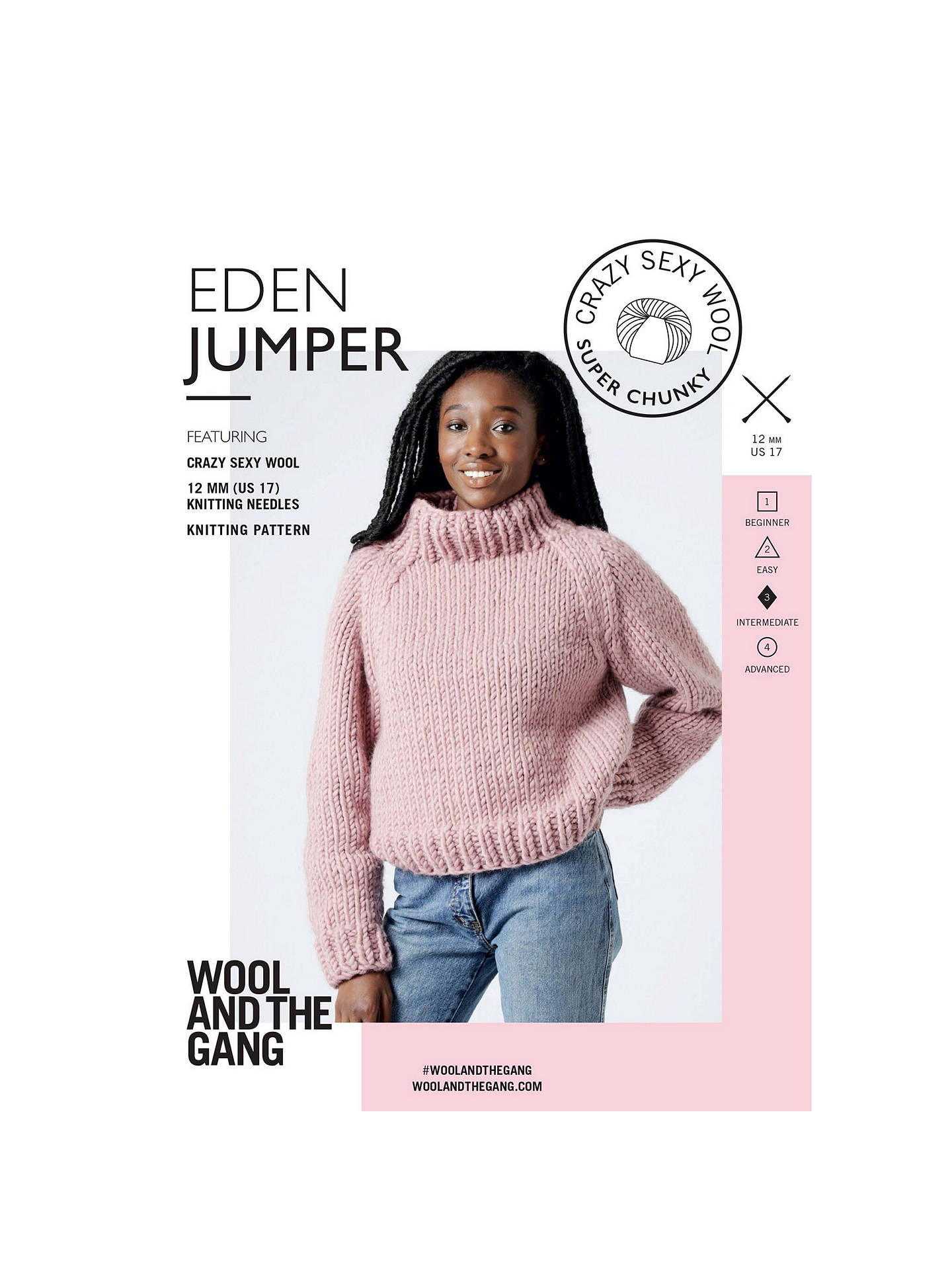 e8e61226a6410e Buy Wool And The Gang Women s Eden Jumper Knitting Pattern Online at  johnlewis. ...