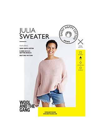 Wool and the Gang Women's Julia Sweater Knitting Pattern