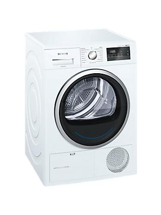 Siemens WT45M231GB Heat Pump Tumble Dryer, 8kg Load, A++ Energy Rating, White