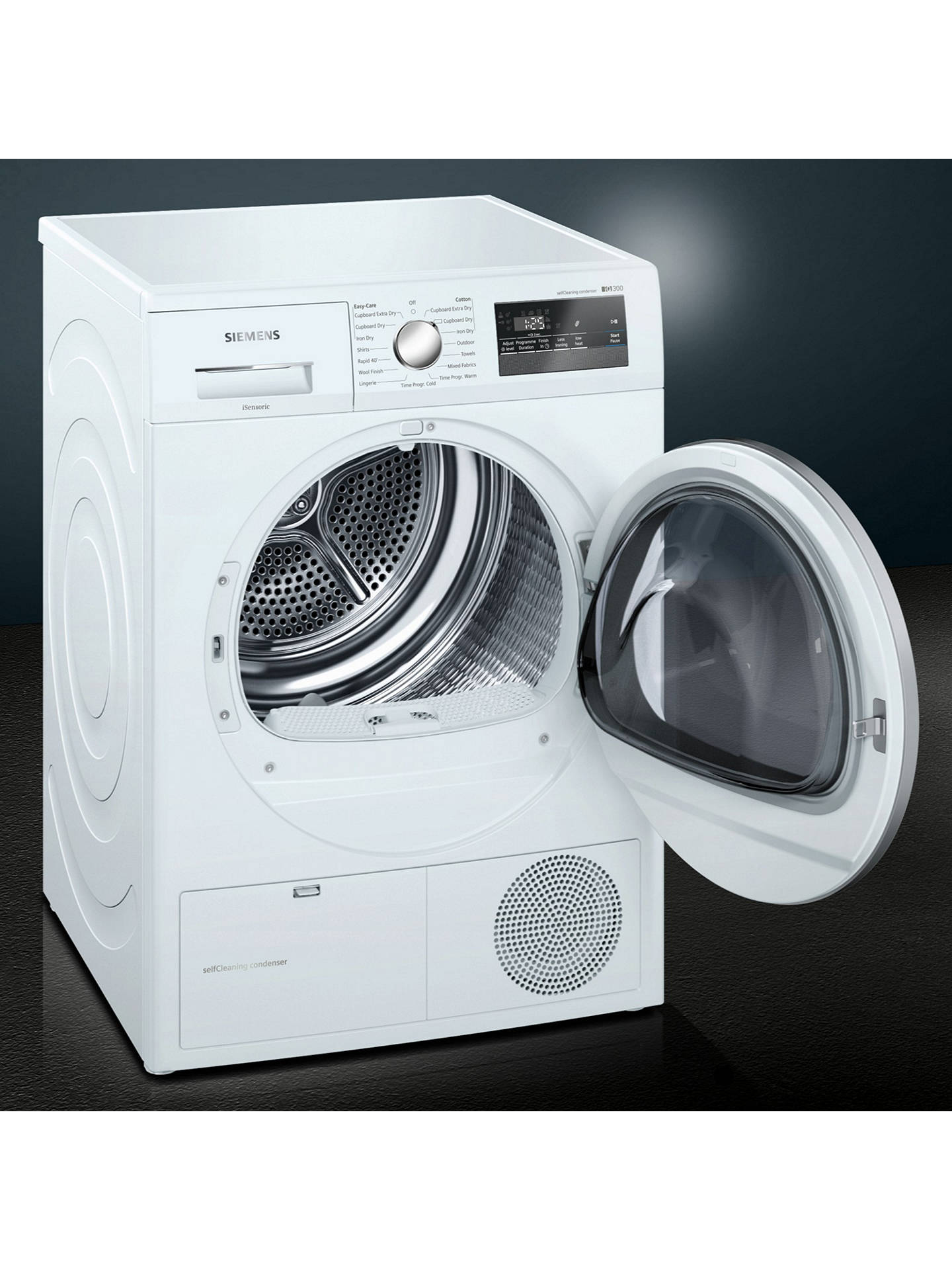 BuySiemens WT45M231GB Heat Pump Tumble Dryer, 8kg Load, A++ Energy Rating, White Online at johnlewis.com