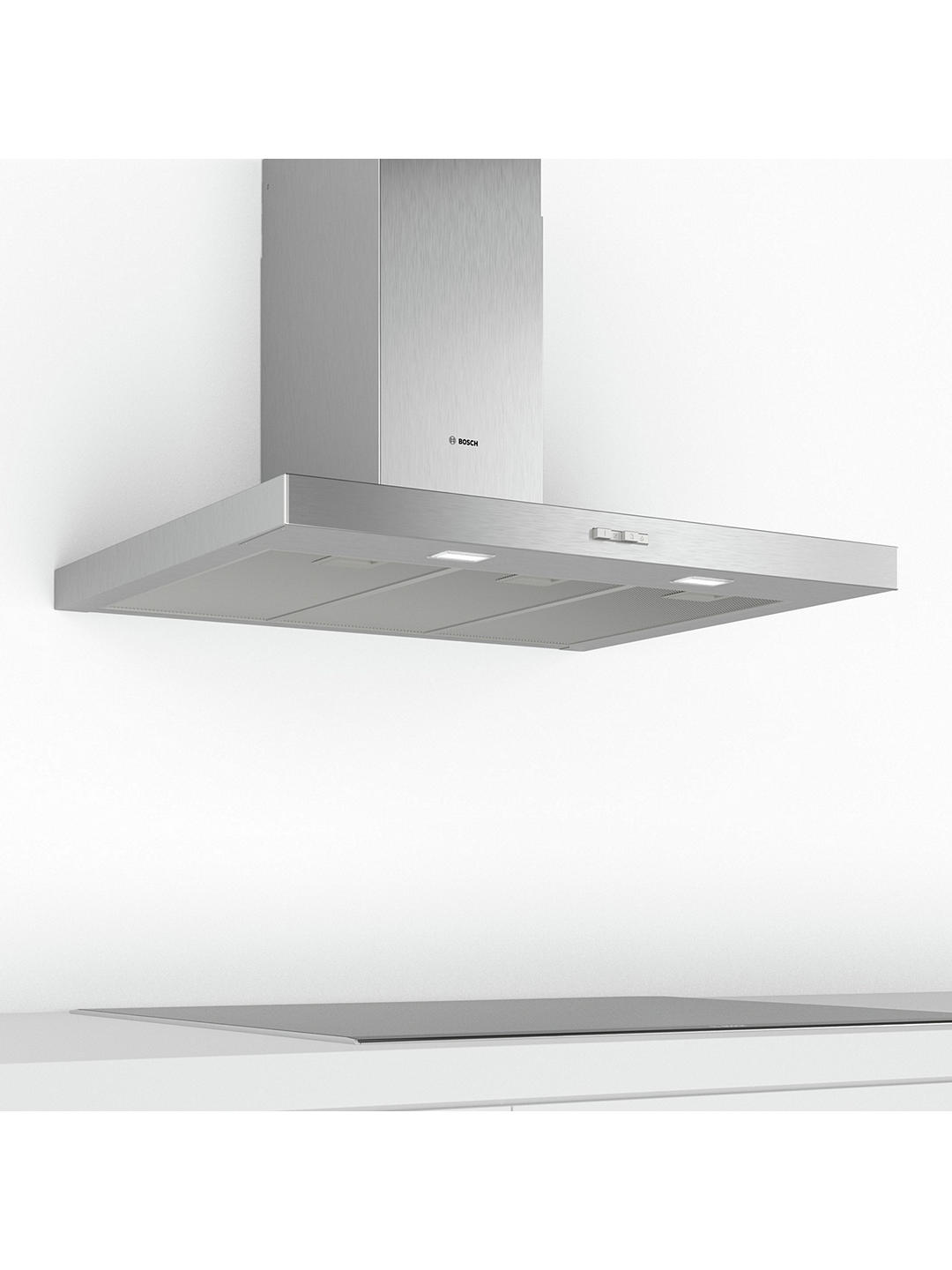 Buy Bosch DWB94BC50B 90cm Box Chimney Cooker Hood, D Energy Rating, Stainless Steel Online at johnlewis.com