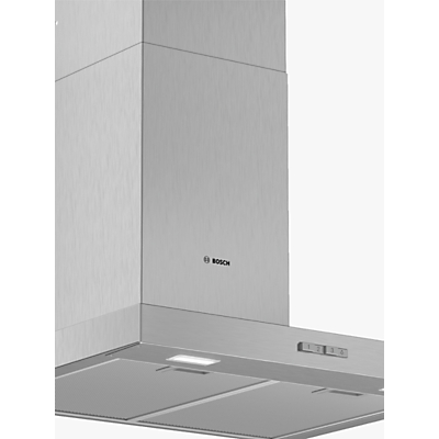 Image of Bosch DWB64BC50B Box Chimney Cooker Hood, Brushed Steel