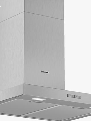 Bosch DWB64BC50B 60cm Box Chimney Cooker Hood, Brushed Steel