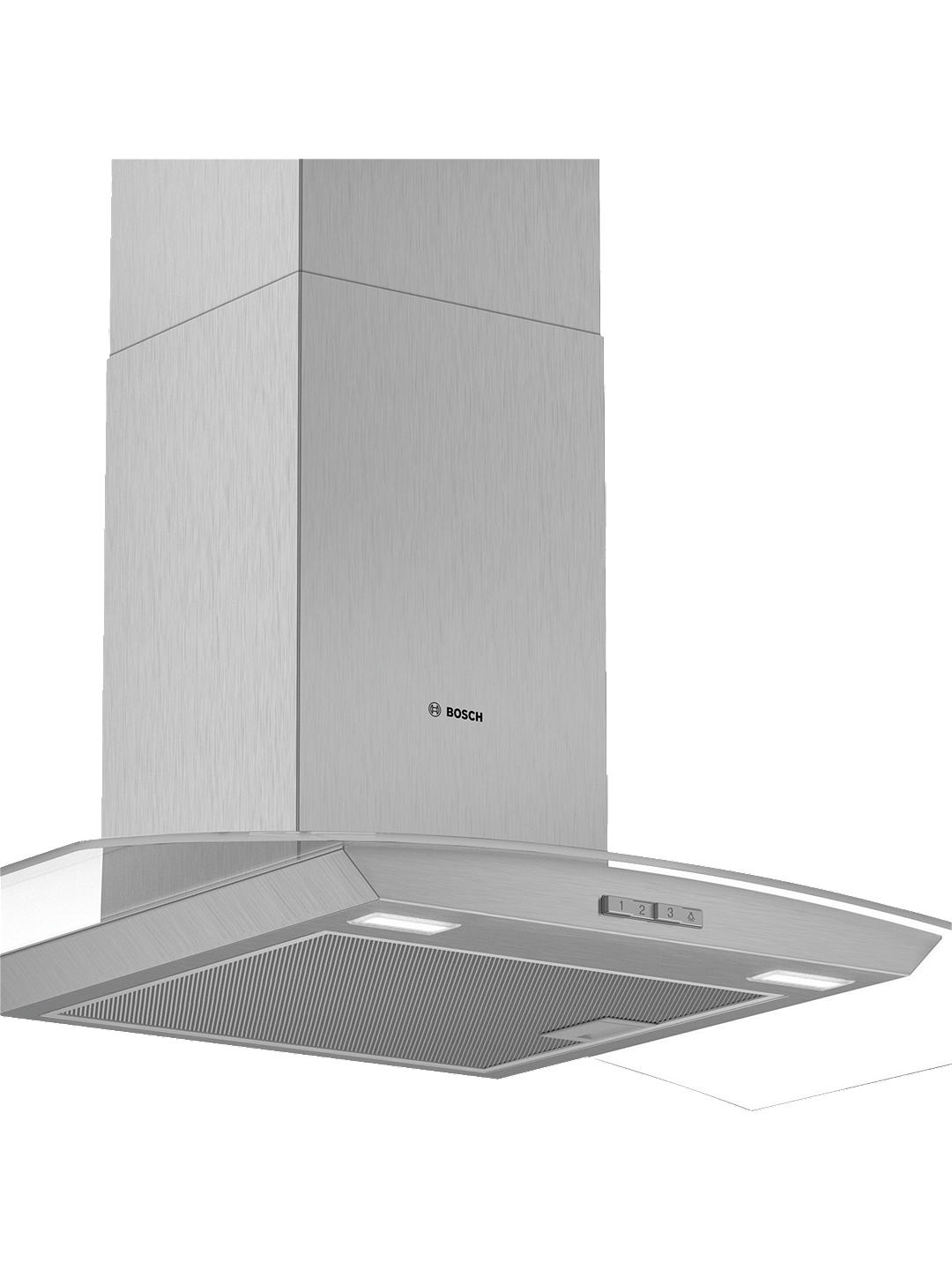 Buy Bosch DWA94BC50B 90cm Chimney Cooker Hood, D Energy Rating, Brushed Steel / Glass Online at johnlewis.com