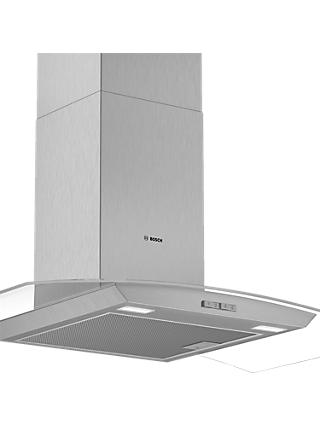 Bosch DWA94BC50B 90cm Chimney Cooker Hood, D Energy Rating, Brushed Steel / Glass