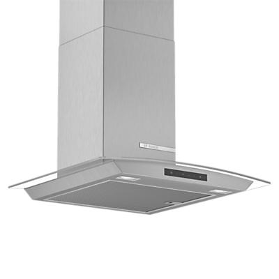 Image of Bosch DWA66DM50B Chimney Cooker Hood, Brushed Steel / Glass