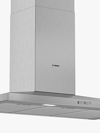 Bosch DWQ94BC50B 90cm Pyramid Chimney Cooker Hood, D Energy Rating, Stainless Steel
