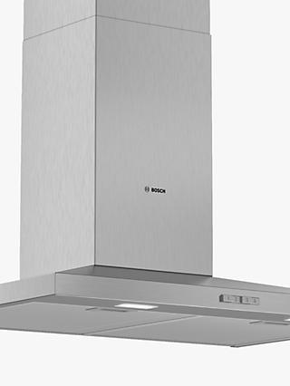Bosch DWQ74BC50B 75cm Pyramid Chimney Cooker Hood, D Energy Rating, Stainless Steel