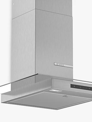 Bosch DWG66DM50B 60cm Box Chimney Cooker Hood, B Energy Rating, Stainless Steel