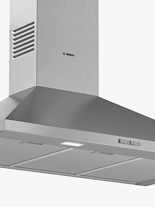 Bosch Serie 2 DWP94BC50B 90cm Pyramid Chimney Cooker Hood, D Energy Rating, Stainless Steel