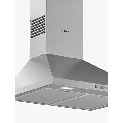 Image of Bosch DWP64BC50B Serie 2 60cm Pyramid-style Chimney Cooker Hood - Stainless Steel