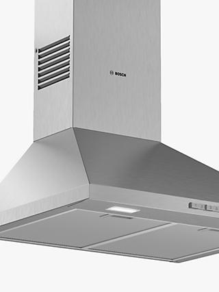 Bosch Serie 2 DWP64BC50B 60cm Pyramid Chimney Cooker Hood, Stainless Steel