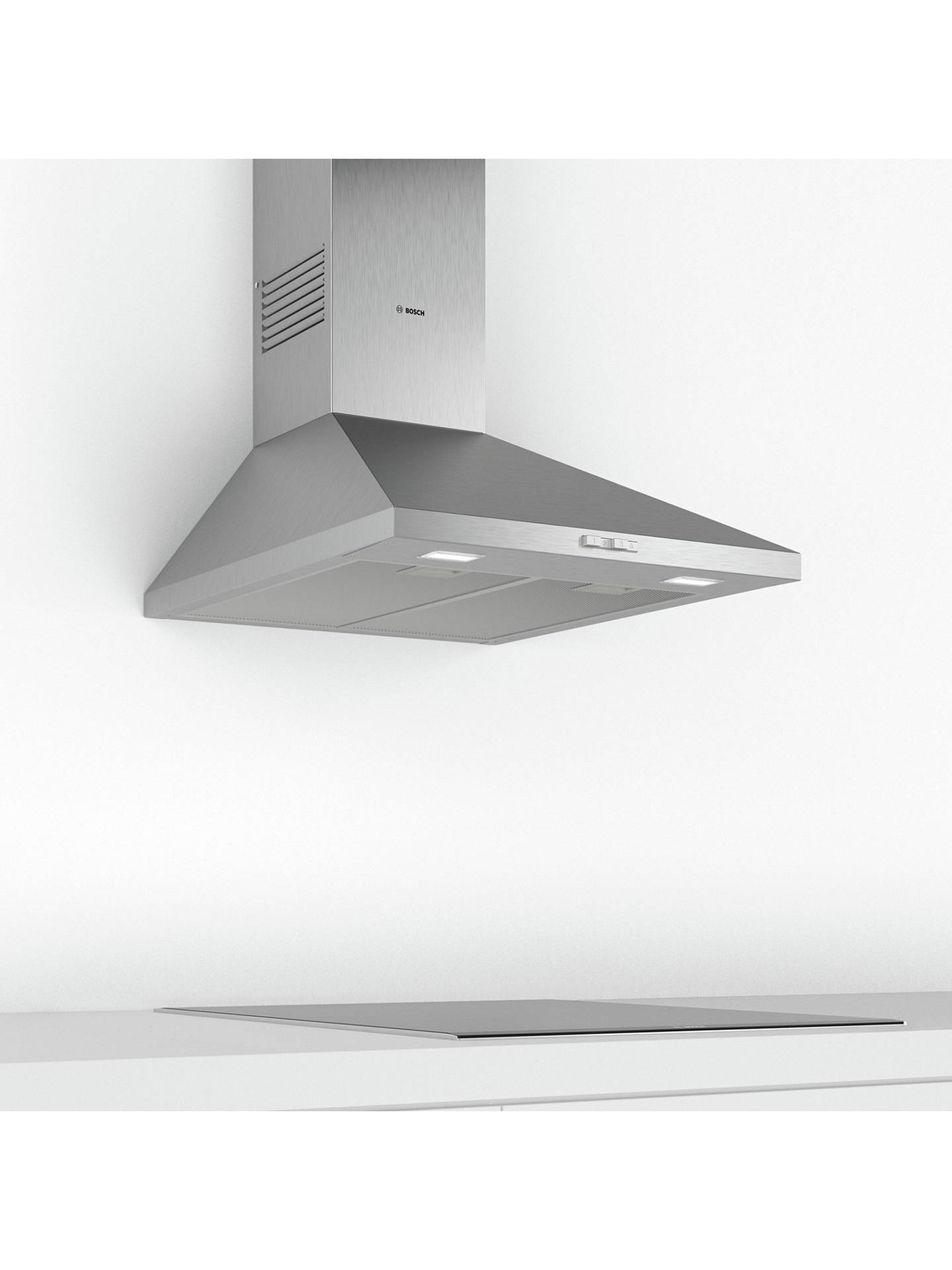 BuyBosch Serie 2 DWP64BC50B Pyramid Chimney Cooker Hood, Stainless Steel Online at johnlewis.com