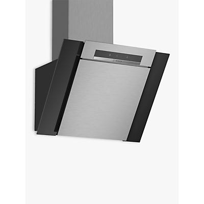 Image of Bosch DWK67BM60B Stainless steel Chimney Cooker hood (W) 600mm