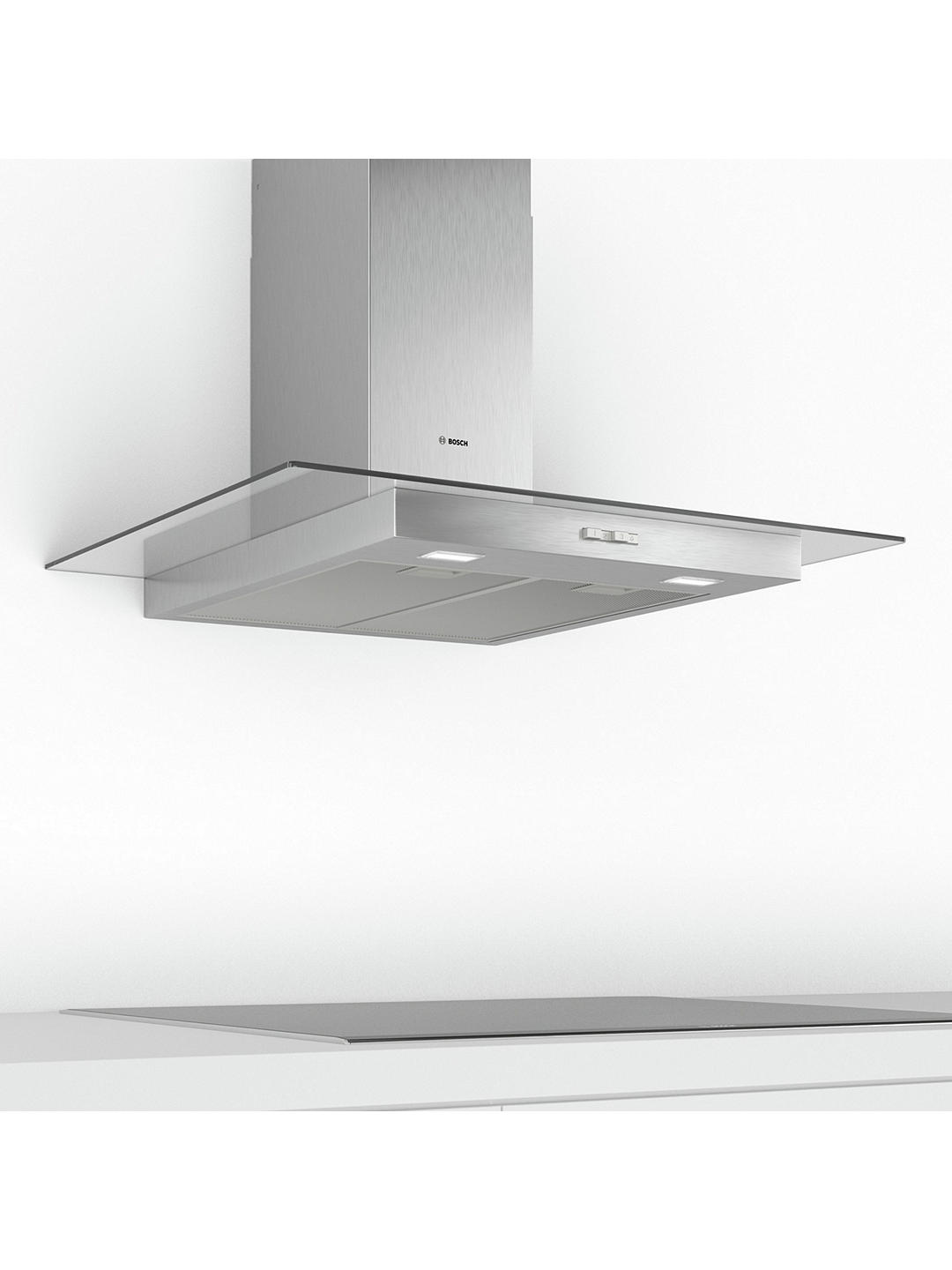 Buy Bosch DWG94BC50B 90cm Box Chimney Cooker Hood, D Energy Rating, Stainless Steel Online at johnlewis.com