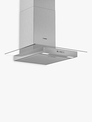 Bosch DWG64BC50B 60cm Box Chimney Cooker Hood, D Energy Rating, Stainless Steel