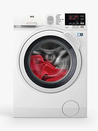 AEG L7WEG841R Freestanding Washer Dryer, 8kg Wash/4kg Dry Load, A Energy Rating, White