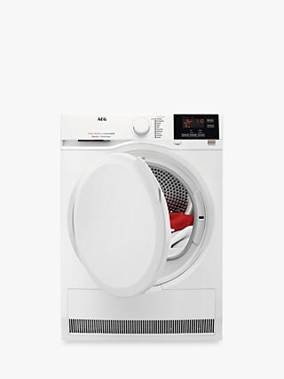 AEG T7DBG860N Heat Pump Tumble Dryer, 8kg Load, A+++ Energy Rating, White