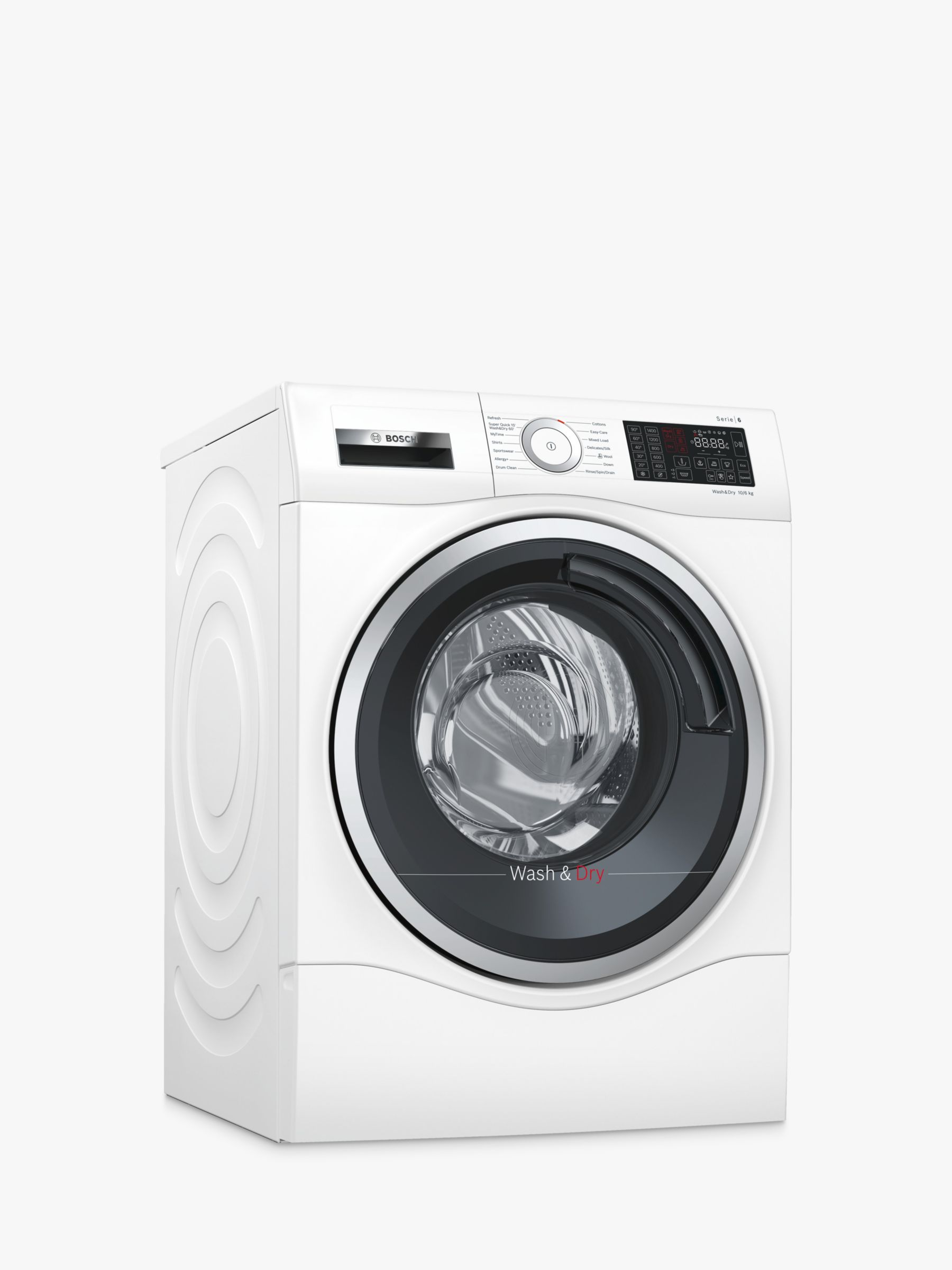 Bosch Bosch WDU28560GB Freestanding Washer Dryer, 10kg Wash/6kg Dry Load, A Energy Rating, 1400rpm Spin, White