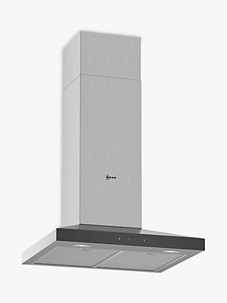 Neff D64QFM1N0B Chimney Cooker Hood, Stainless Steel