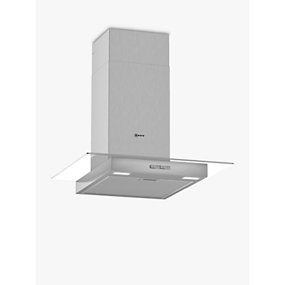 Image of Neff D64GBC0N0B 60cm Chimney Cooker Hood With Flat Glass Canopy - Stainless Steel