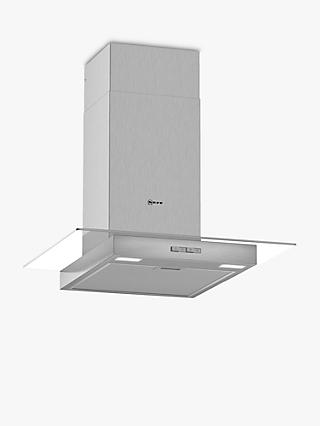 Neff D64GBC0N0B Chimney Cooker Hood, Glass/Stainless Steel