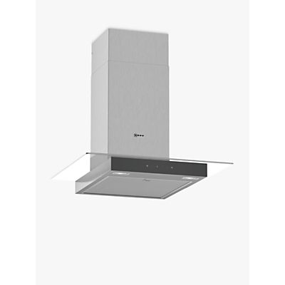 Image of Neff D64GFM1N0B 60cm Touch Control Chimney Cooker Hood With Flat Glass Canopy - Stainless Steel