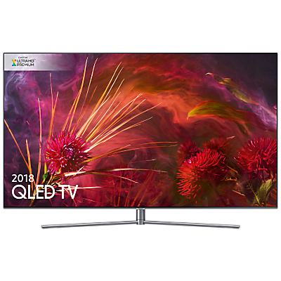 Samsung QE55Q8FN (2018) QLED HDR 1500 4K Ultra HD Smart TV, 55 with TVPlus/Freesat HD & 360 Design, Ultra HD Premium Certified, Silver