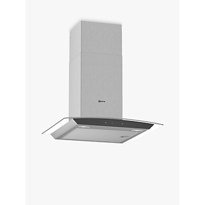 Image of Neff D64AFM1N0B 60cm Touch Control Chimney Cooker Hood With Curved Glass Canopy - Stainless Steel
