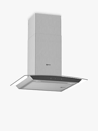 Neff D64AFM1N0B Chimney Cooker Hood, Stainless Steel/Glass