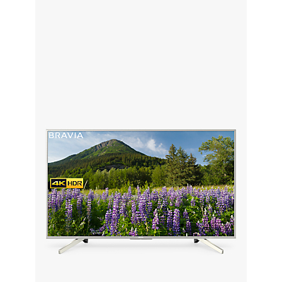 Sony Bravia KD55XF7073 LED HDR 4K Ultra HD Smart TV, 55 with Freeview Play & Cable Management, Silver