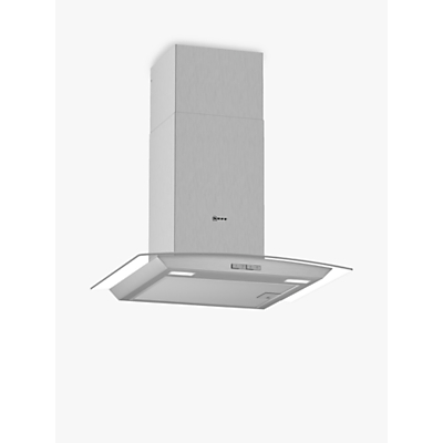 Image of Neff D64ABC0N0B 60cm Chimney Cooker Hood With Curved Glass Canopy - Stainless Steel
