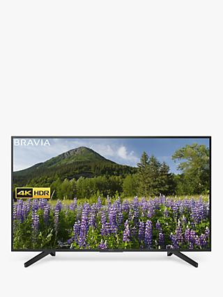 "Sony Bravia KD65XF7093 LED HDR 4K Ultra HD Smart TV, 65"" with Freeview Play & Cable Management, Black"