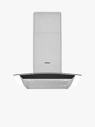 Siemens LC67AFM50B Chimney Cooker Hood, Glass/Stainless Steel