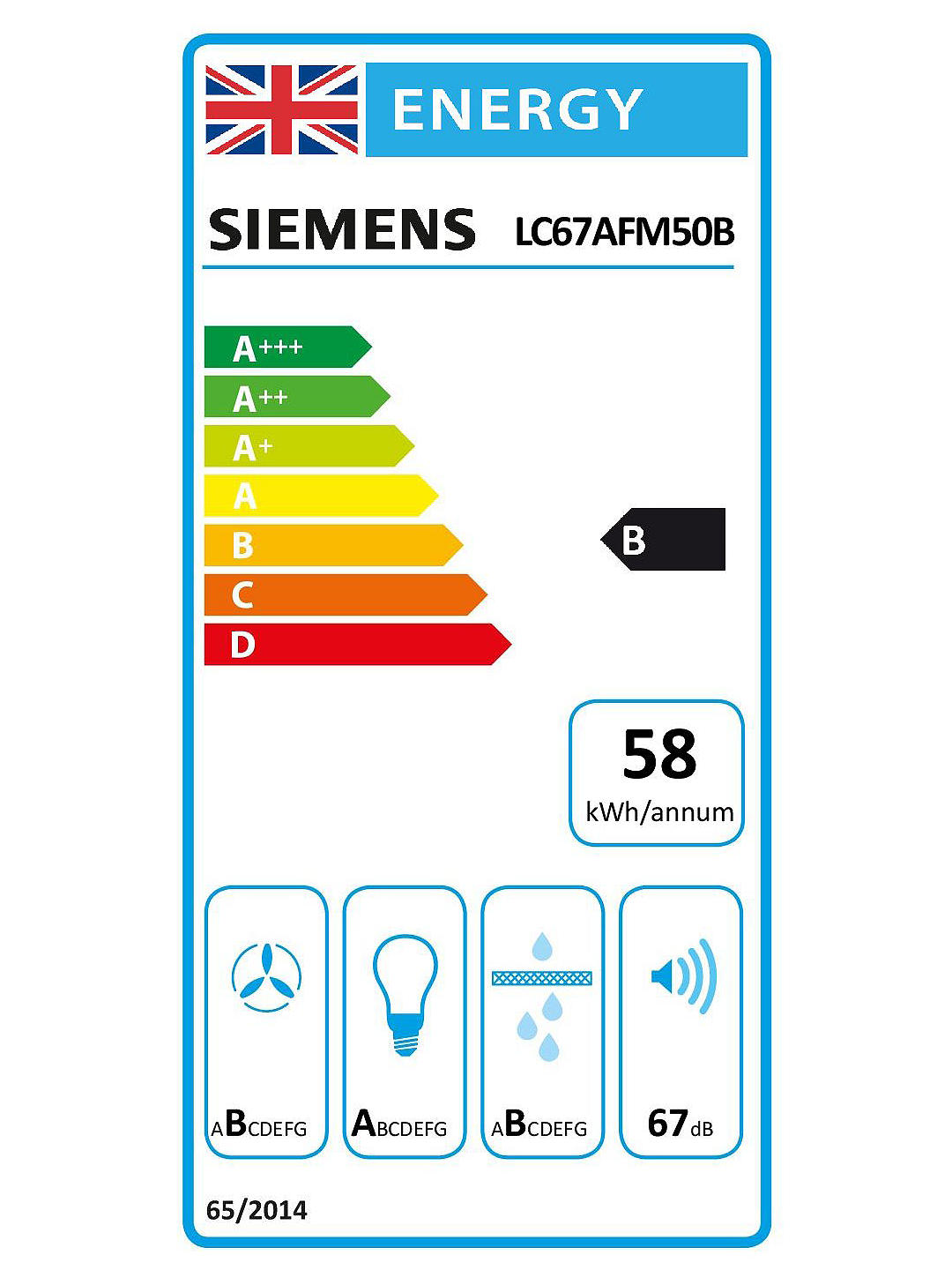 Buy Siemens LC67AFM50B Chimney Cooker Hood, Glass/Stainless Steel Online at johnlewis.com