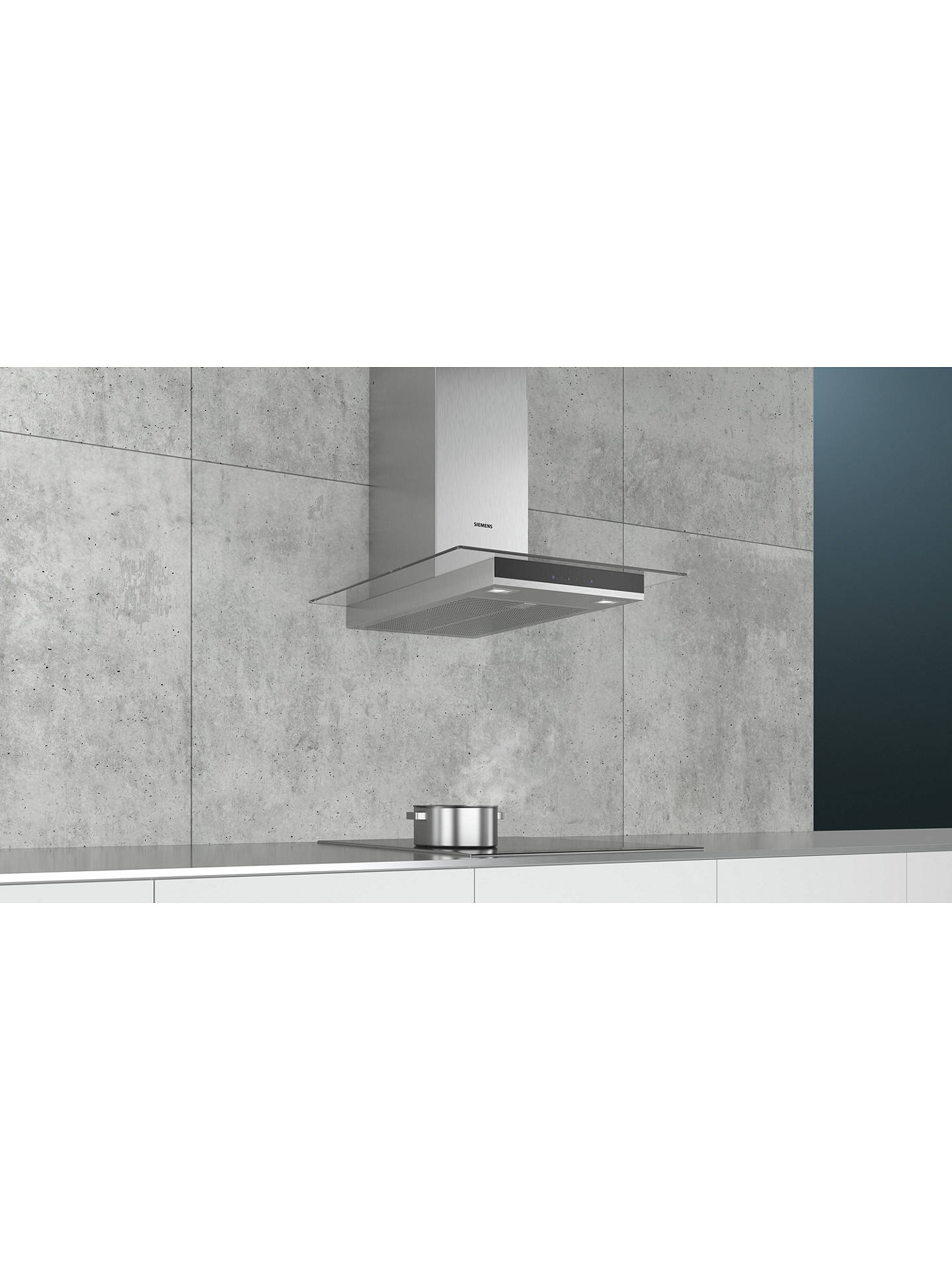 BuySiemens LC67GHM50B Chimney Cooker Hood, Glass/Stainless Steel Online at johnlewis.com