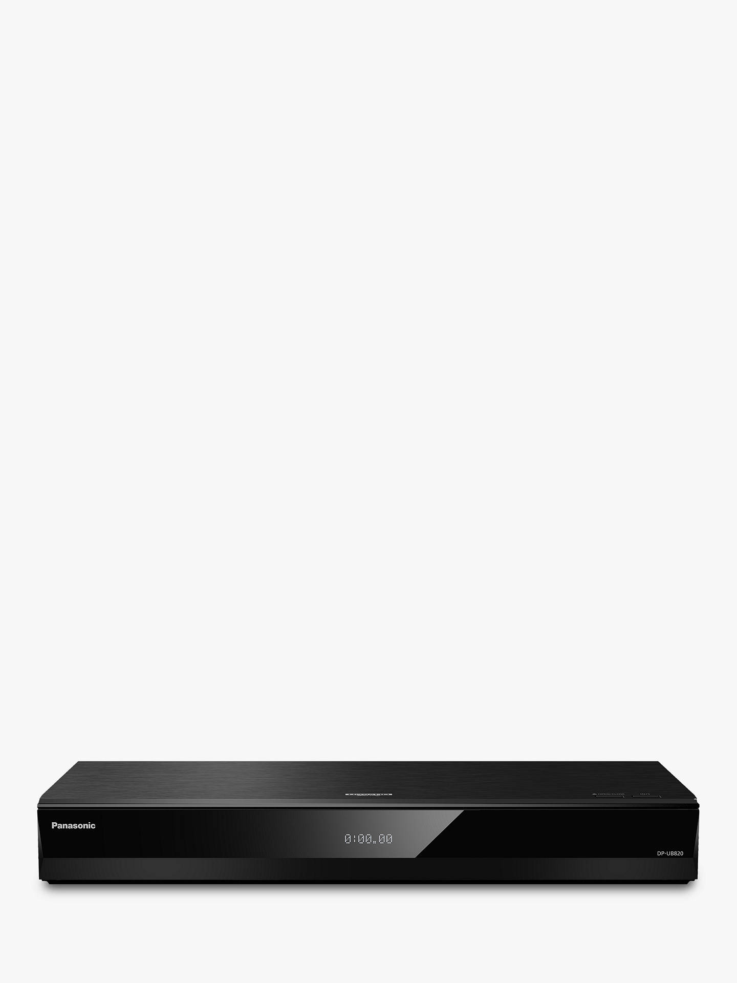 Buy Panasonic DP-UB820EBK Smart 3D 4K UHD HDR Upscaling Blu-Ray/DVD Player with High Resolution Audio, Ultra HD Premium Certified Online at johnlewis.com