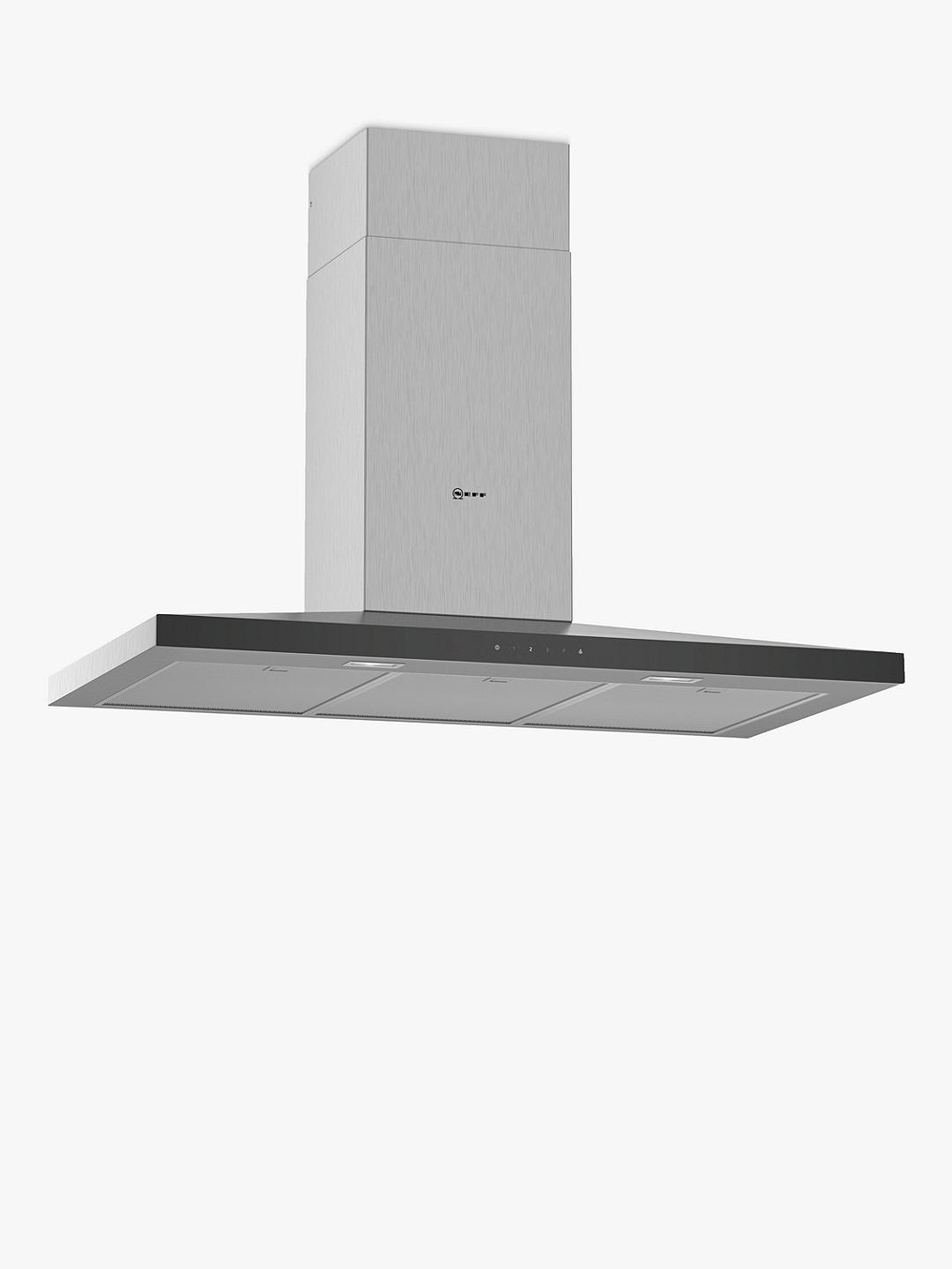 Buy Neff D94QFM1N0B Chimney Cooker Hood, Stainless Steel Online at johnlewis.com