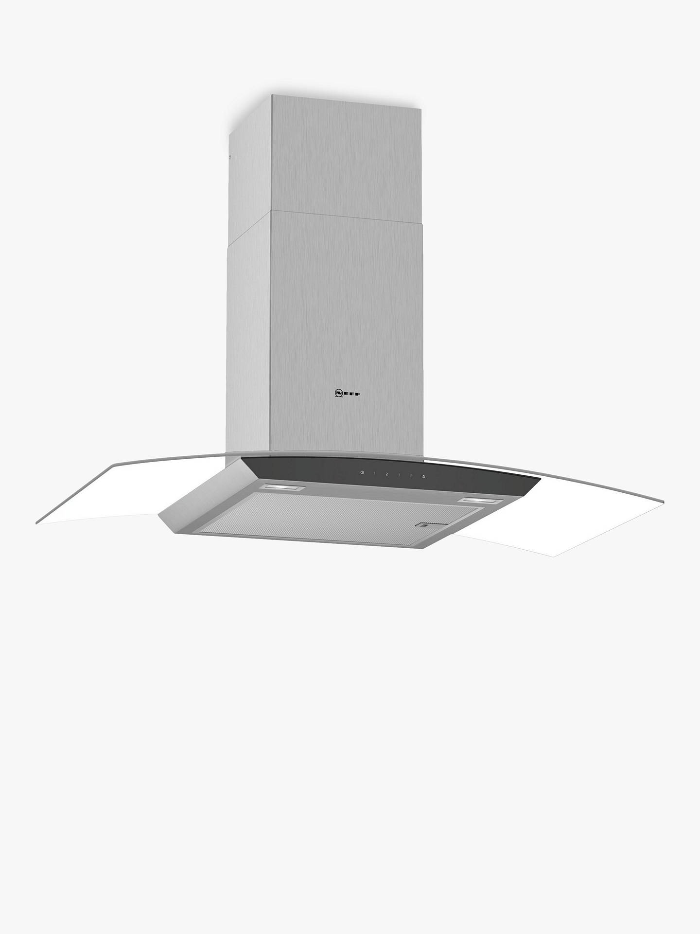 Buy Neff D94AFM1N0B Chimney Cooker Hood, Stainless Steel/Glass Online at johnlewis.com