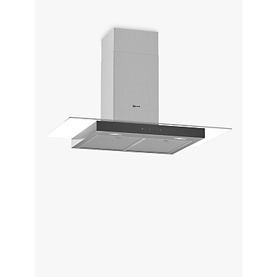 Image of Neff D94GFM1N0B 90cm Touch Control Chimney Cooker Hood With Flat Glass Canopy - Stainless Steel