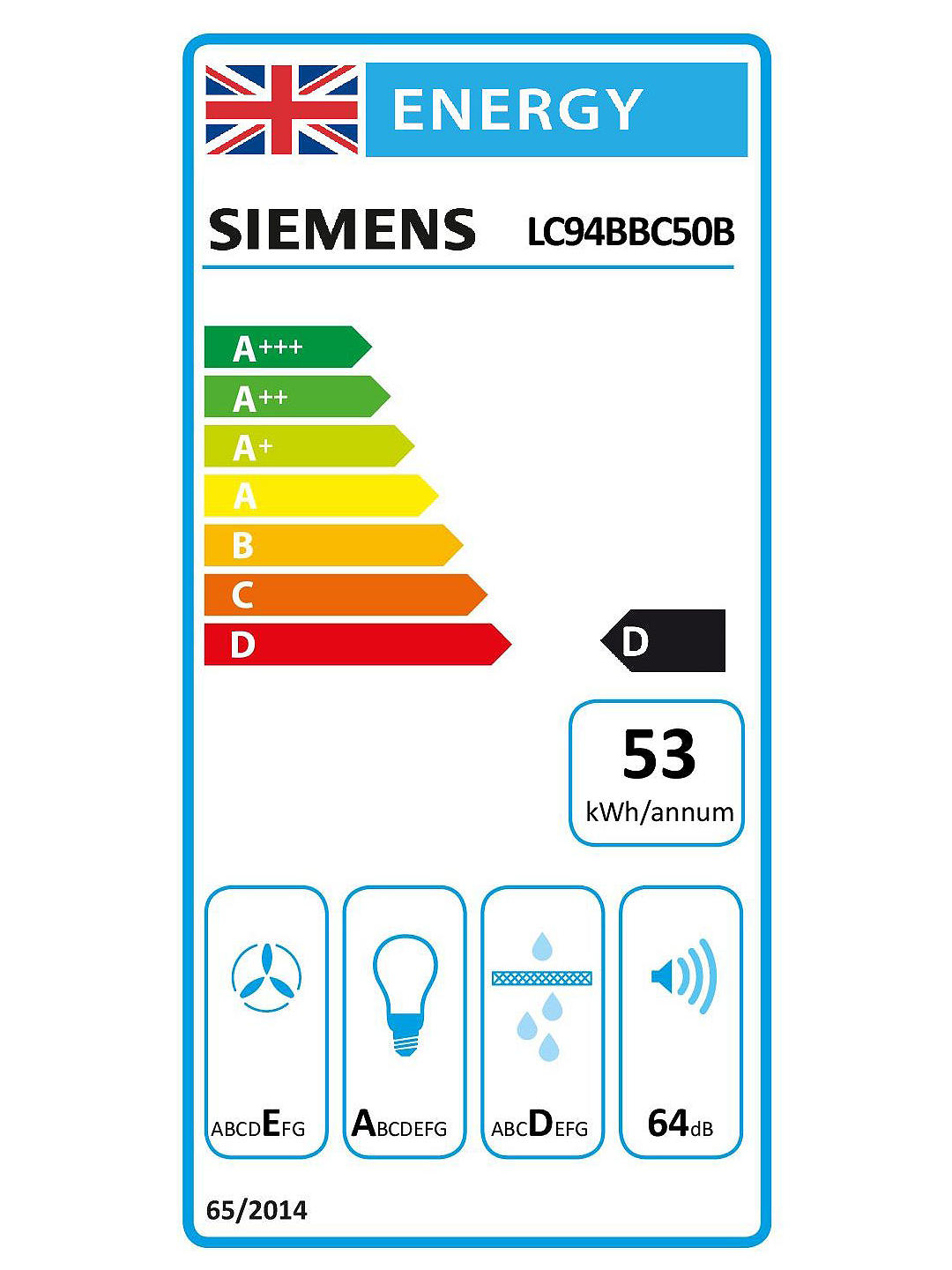 Buy Siemens LC94BBC50B Chimney Cooker Hood, Stainless Steel Online at johnlewis.com