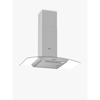 Image of Neff D94ABC0N0B 90cm Chimney Cooker Hood With Curved Glass Canopy - Stainless Steel