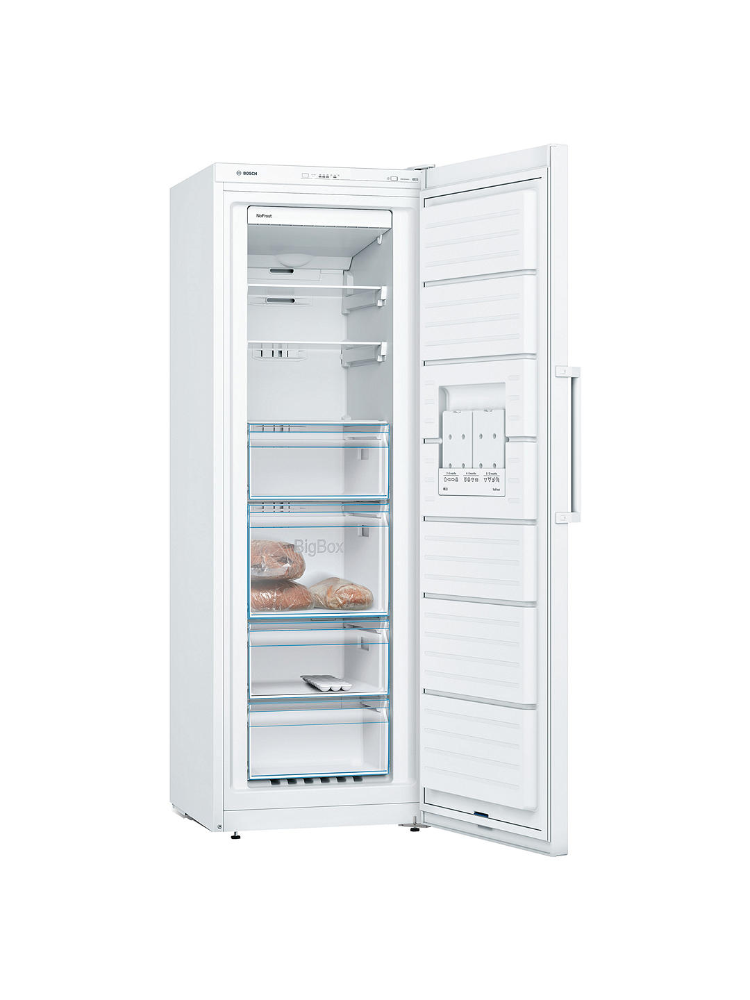 Buy Bosch GSN33VW3PG Tall Freezer, A++ Energy Rating, 60cm Wide, White Online at johnlewis.com