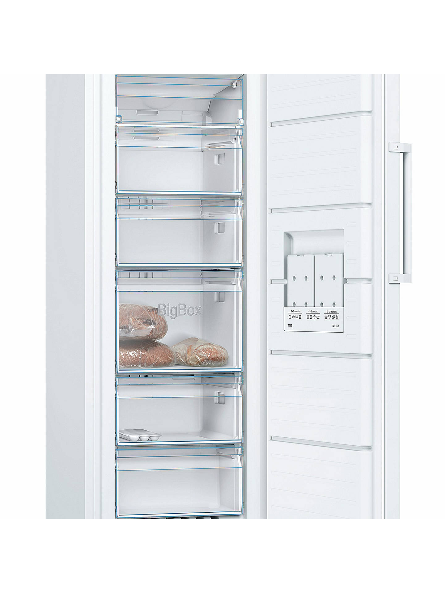 BuyBosch GSN29VW3VG Tall Freezer, A++ Energy Rating, 60cm Wide, White Online at johnlewis.com
