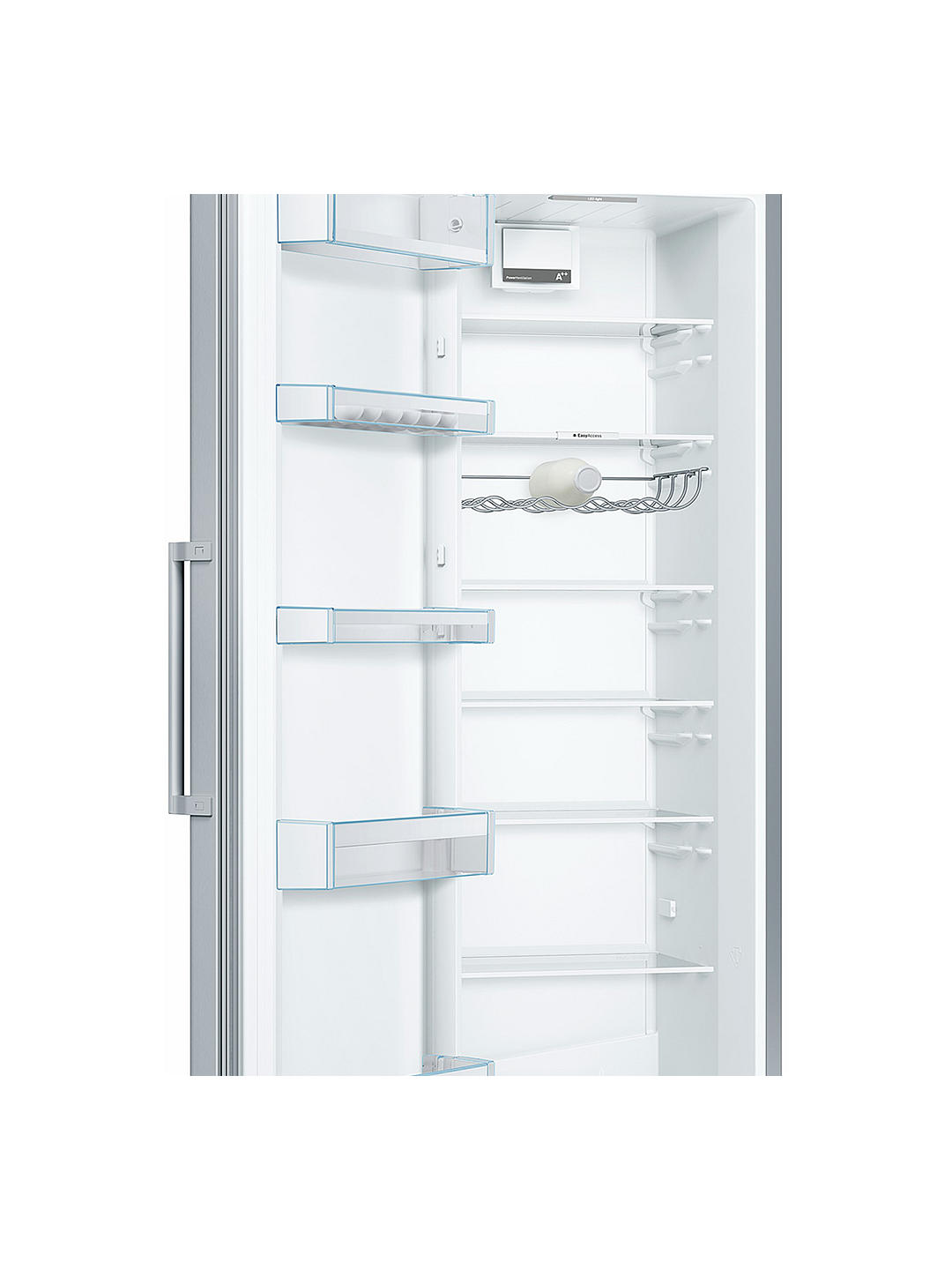 Buy Bosch KSV36VL3PG Tall Larder Fridge, A++ Energy Rating, 60cm Wide, Stainless Steel Online at johnlewis.com